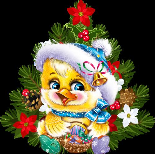 Pollito y árbol navideño OFo1Yj
