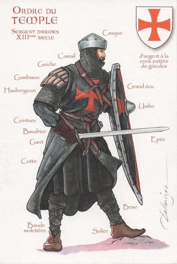 La Orden Militar del Temple (1118-1310) Armaduras, armas y equipamiento RNC1RZ