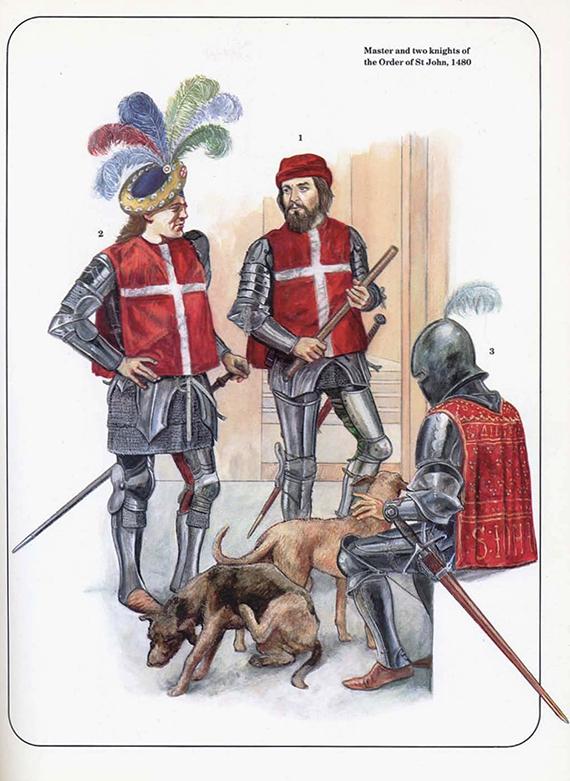 Evolución del aspecto en combate de los caballeros hospitalarios (1160-1480) BhIozP