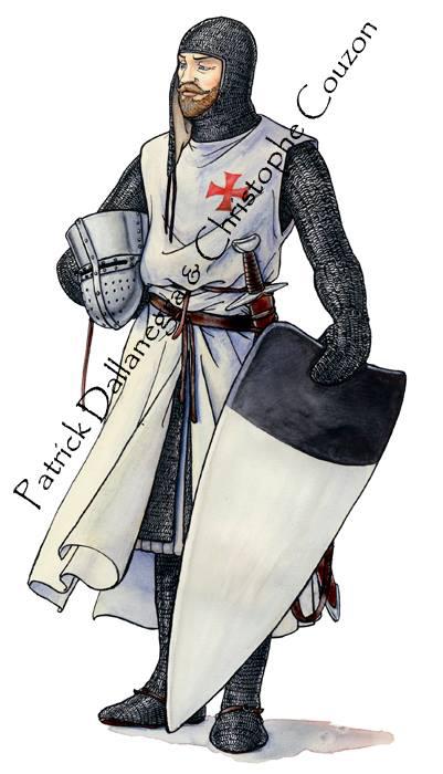 La Orden Militar del Temple (1118-1310) Armaduras, armas y equipamiento BMiHZZ