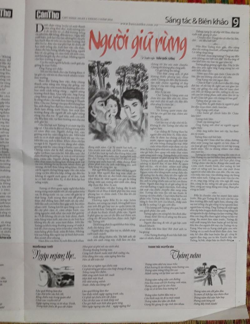 Thơ Thanh Trắc Nguyễn Văn trên sách báo VdD69K