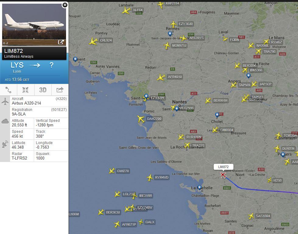 A320 de Limitless Airways TcM37K
