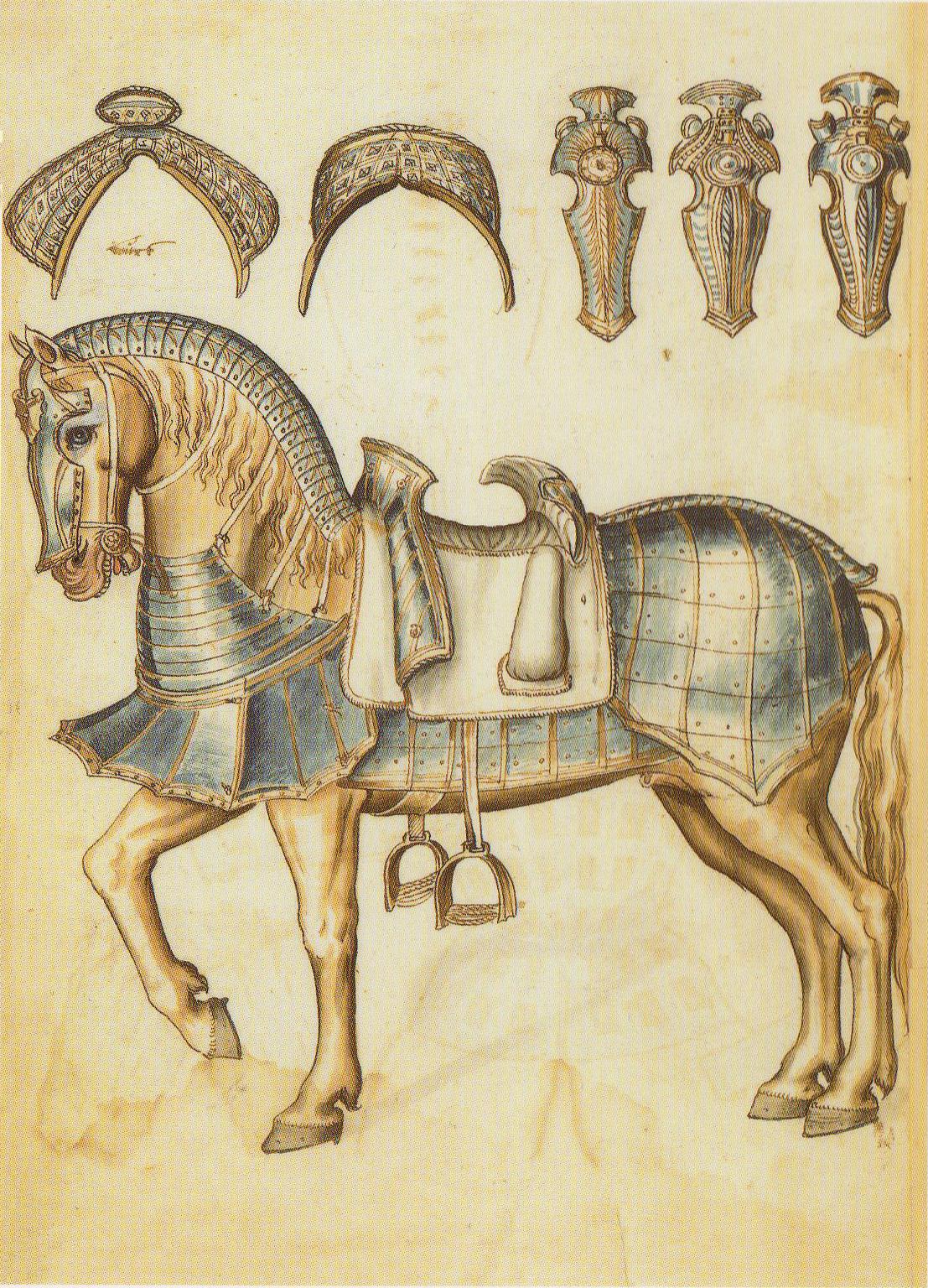 El caballo de guerra medieval. Evolución de su equipamiento y armadura 5uhgPN