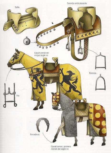 El caballo de guerra medieval. Evolución de su equipamiento y armadura JcnKth
