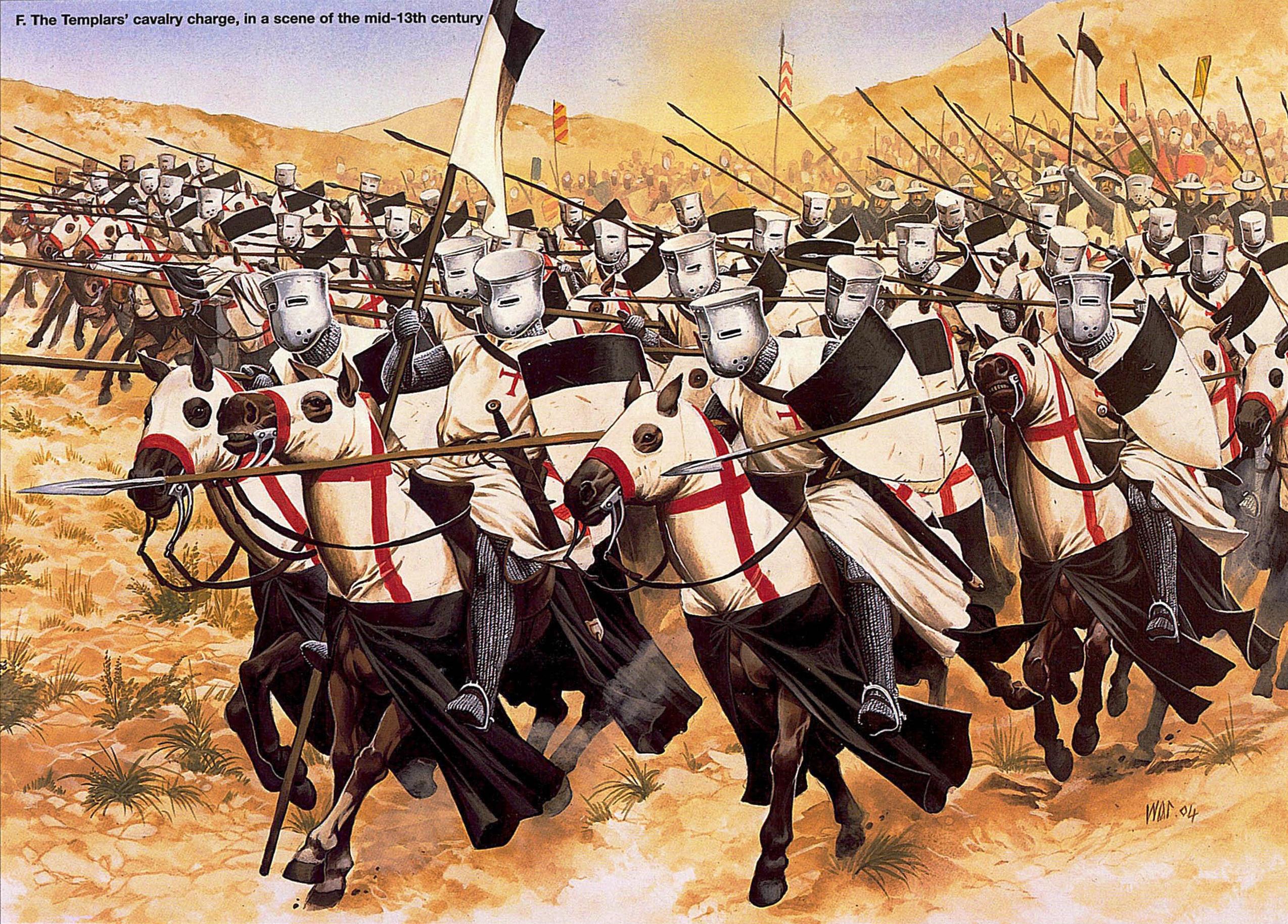 La Orden Militar del Temple (1118-1310) Armaduras, armas y equipamiento GZWuVR