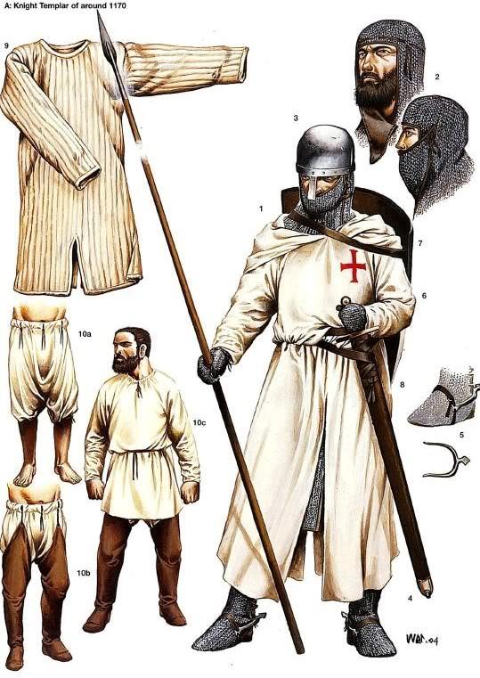 La Orden Militar del Temple (1118-1310) Armaduras, armas y equipamiento 8sWEyL