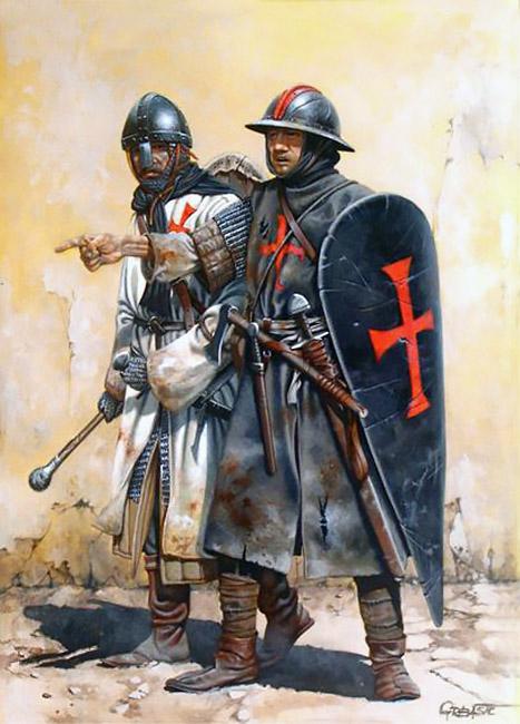 La Orden Militar del Temple (1118-1310) Armaduras, armas y equipamiento D0pIvA