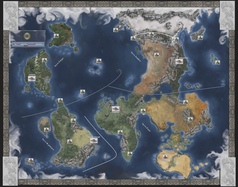 Carte du Monde des Hommes et détails des  4 Terres  (uc)  FnsI8h