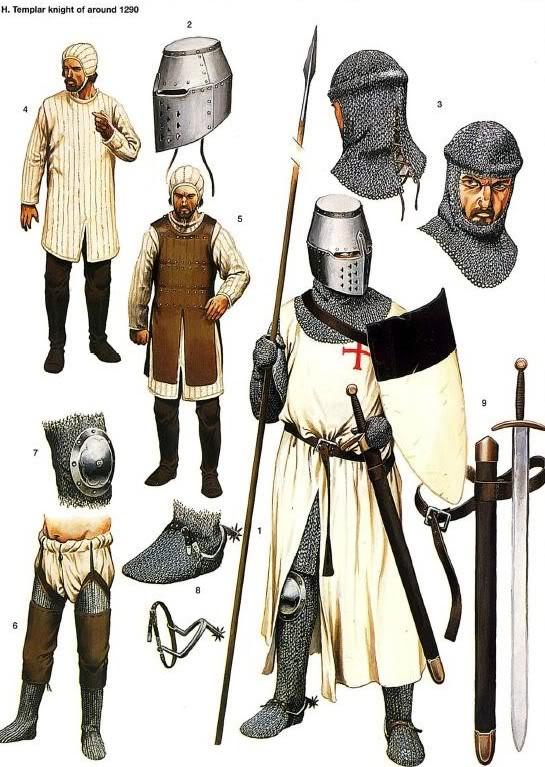 La Orden Militar del Temple (1118-1310) Armaduras, armas y equipamiento ZbmGP5