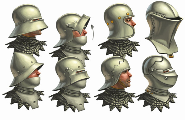 Armaduras y armas de los caballeros IxZ715