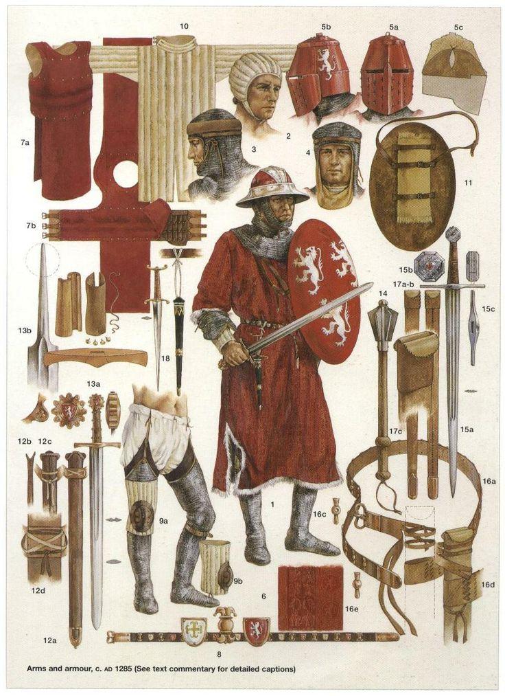 Armaduras y armas de los caballeros 8O9geW