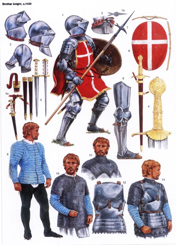 Evolución del aspecto en combate de los caballeros hospitalarios (1160-1480) KQbTnP
