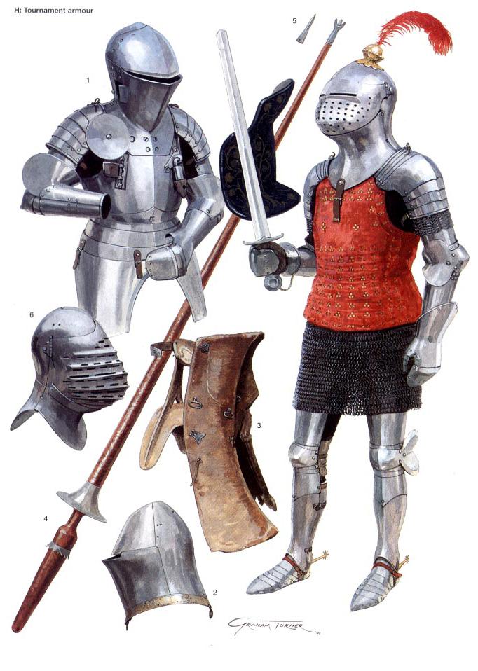 Armaduras y armas de los caballeros A7skaH