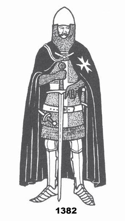 Evolución del aspecto en combate de los caballeros hospitalarios (1160-1480) FrNdJY