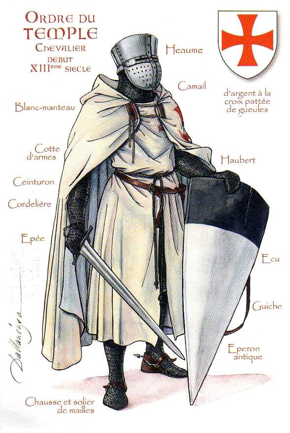 La Orden Militar del Temple (1118-1310) Armaduras, armas y equipamiento R9bzjM