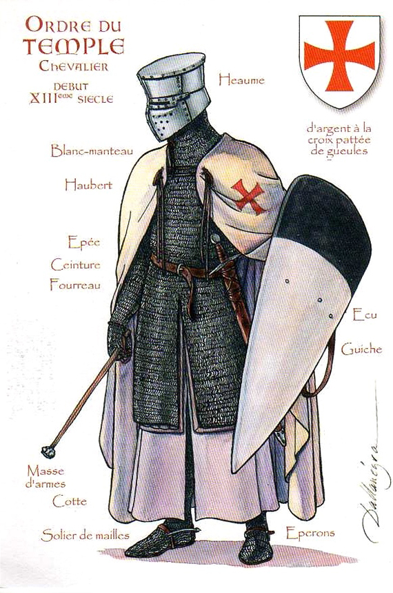 La Orden Militar del Temple (1118-1310) Armaduras, armas y equipamiento RFgu8z