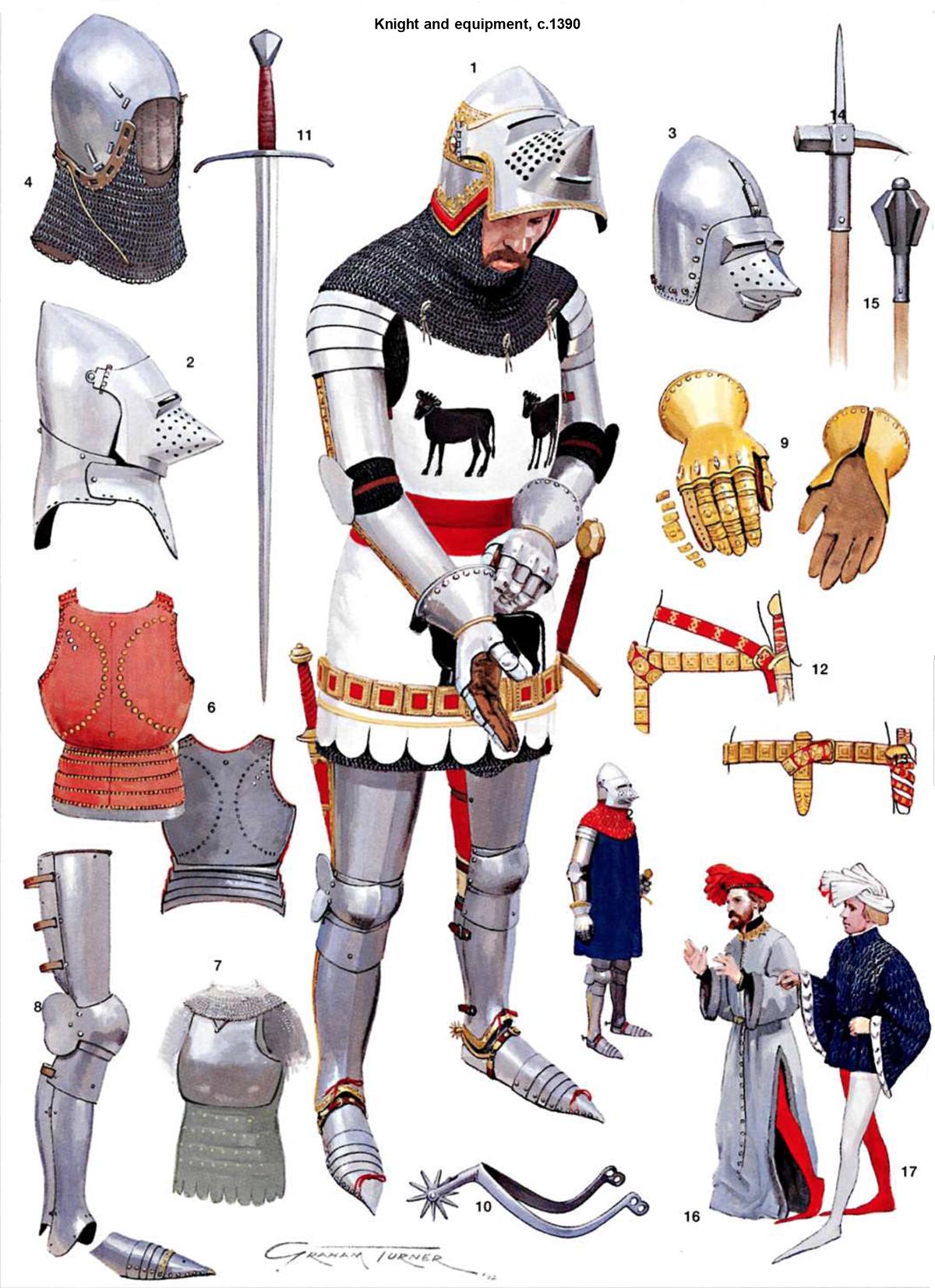 Armaduras y armas de los caballeros 1hKinL