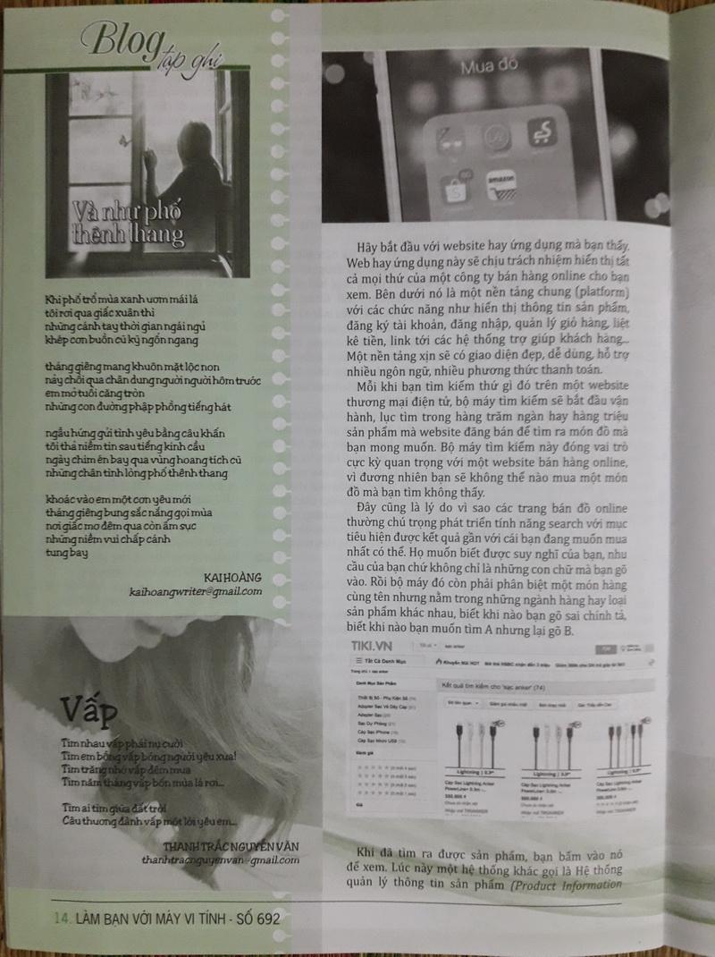 Thơ Thanh Trắc Nguyễn Văn trên sách báo KrlTy7
