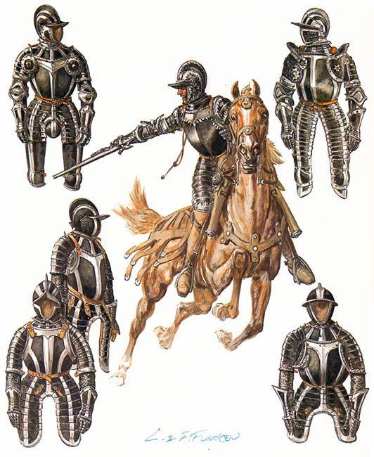 Armaduras y armas de los caballeros A3fuHa