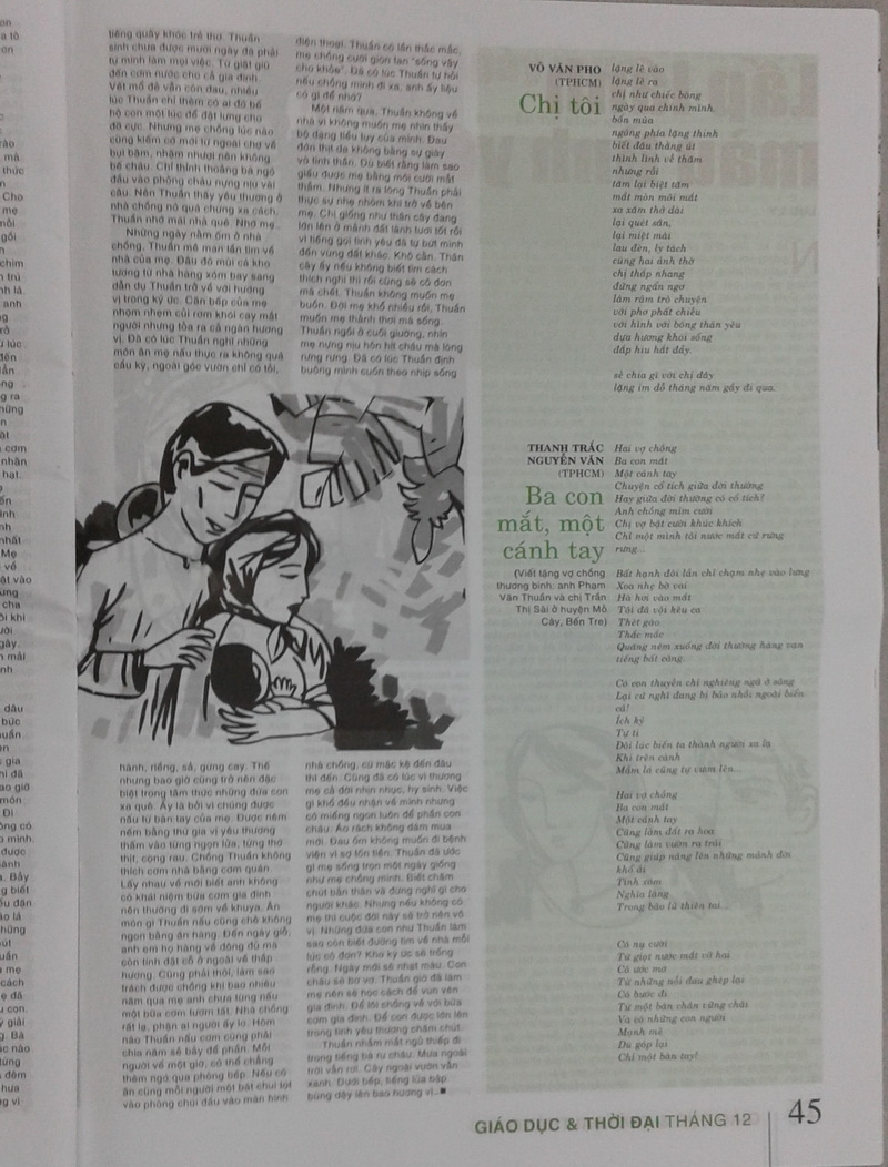 Thơ Thanh Trắc Nguyễn Văn trên sách báo Q8SFLh