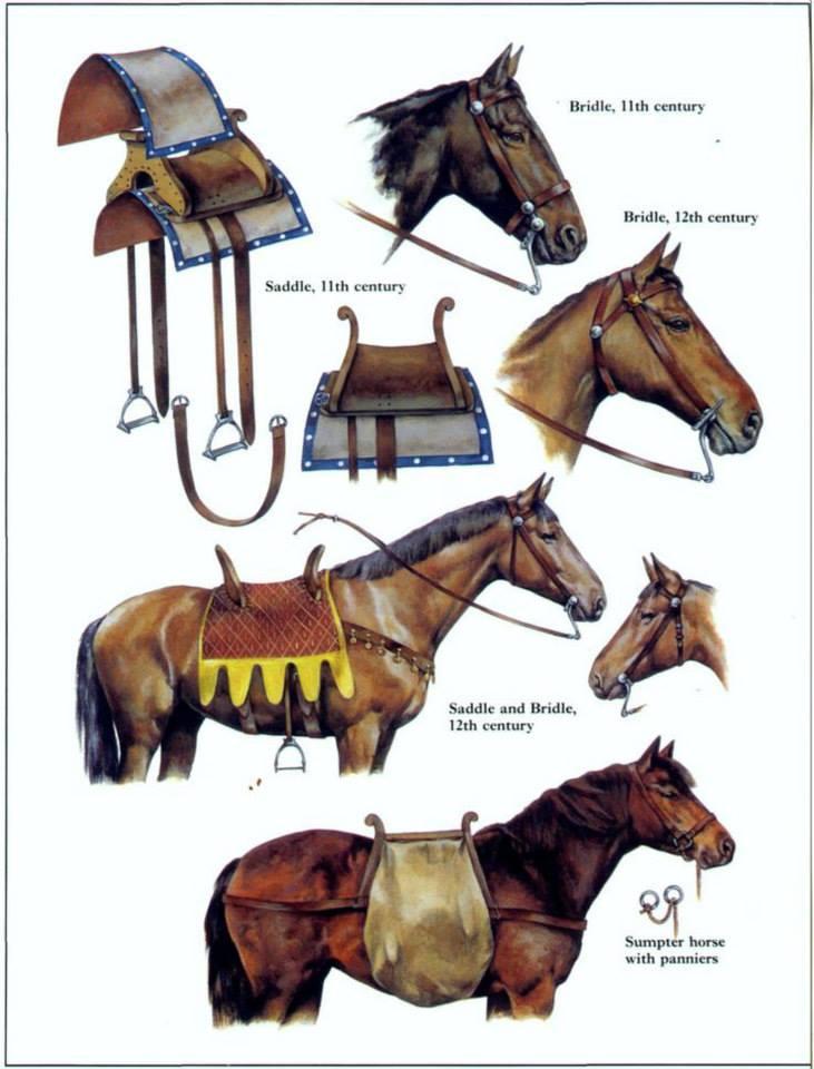El caballo de guerra medieval. Evolución de su equipamiento y armadura UK4I7r