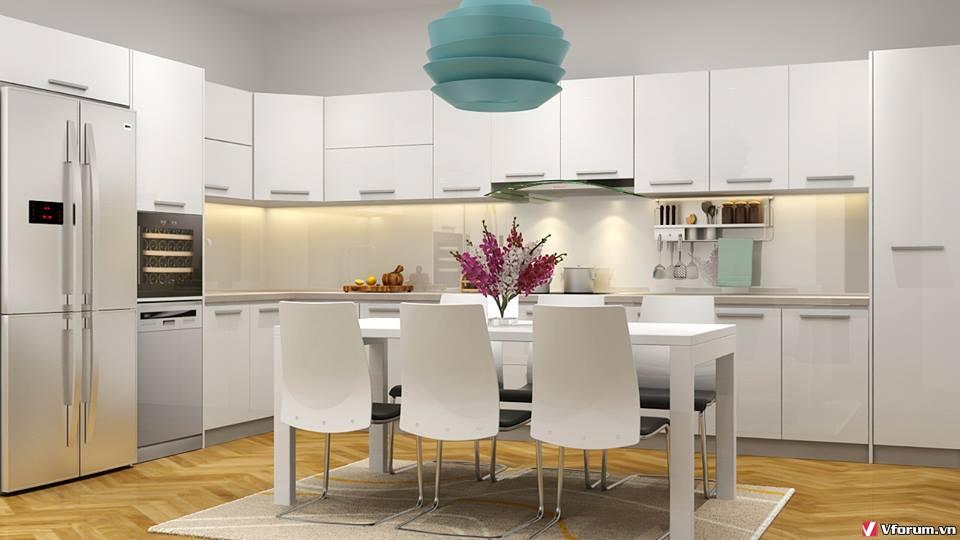 Thiết kế phòng bếp tuyệt đẹp – tiện nghi cho các căn hộ chung cư ZaNkNa
