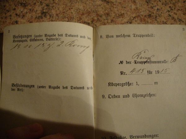 Traduction militarpass et wehrpass d'un suisse ayant combattu pour les allemands Dsc02056w