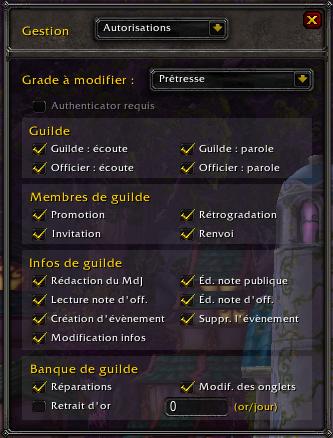 Autorisations selon le grade de guilde 8cCLZd