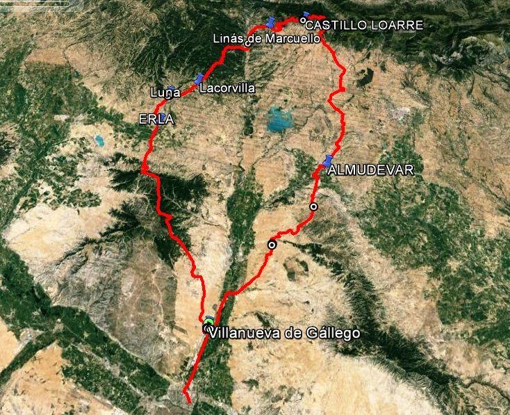 Ruta a CASTILLO DE LOARRE por Almudevar y vuelta por Sierra Estronad, Erla, Montes de Castejon. SABADO O DOMINGO Rvea