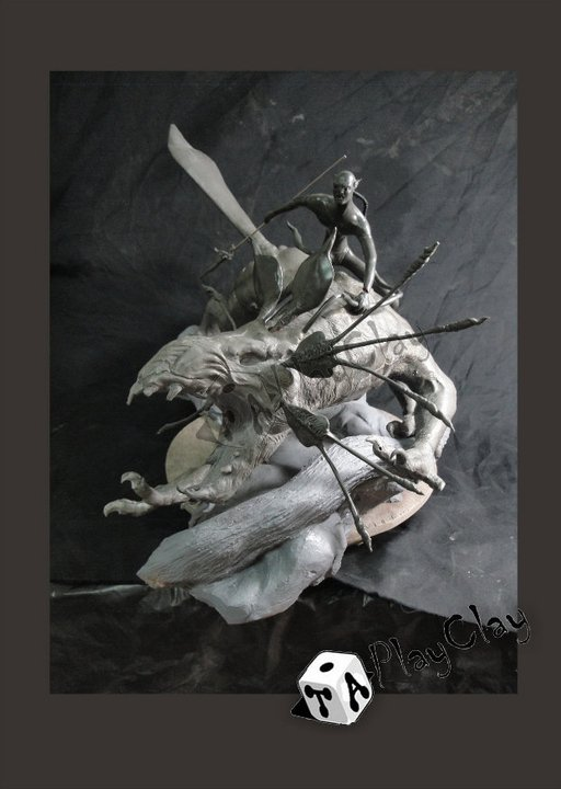 Diorama Jake Sully on Thanator by Taoplayclay 25174710150183248182076