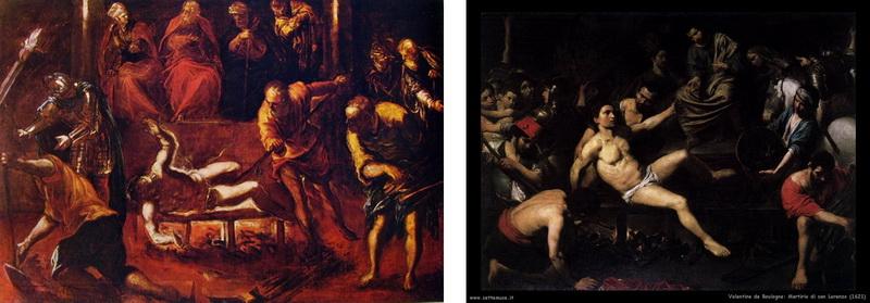 San Jerónimo de Estridón - Martirio de San Lorenzo. S. XVIII ( R.M. S.XVIII-O179) Tintorettovalentine
