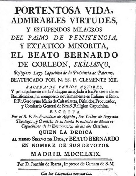 asis - Beato Bernardo da Corleone/ San Francisco de Asis S.XVIII ( RFM SXVIII-O159) Clip6n