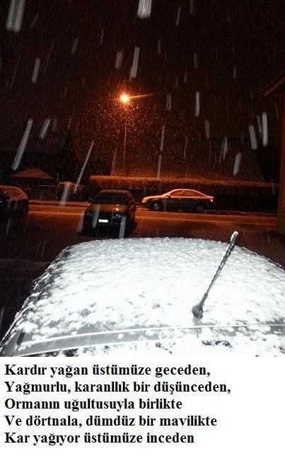 Kardır yağan üstümüze geceden N030