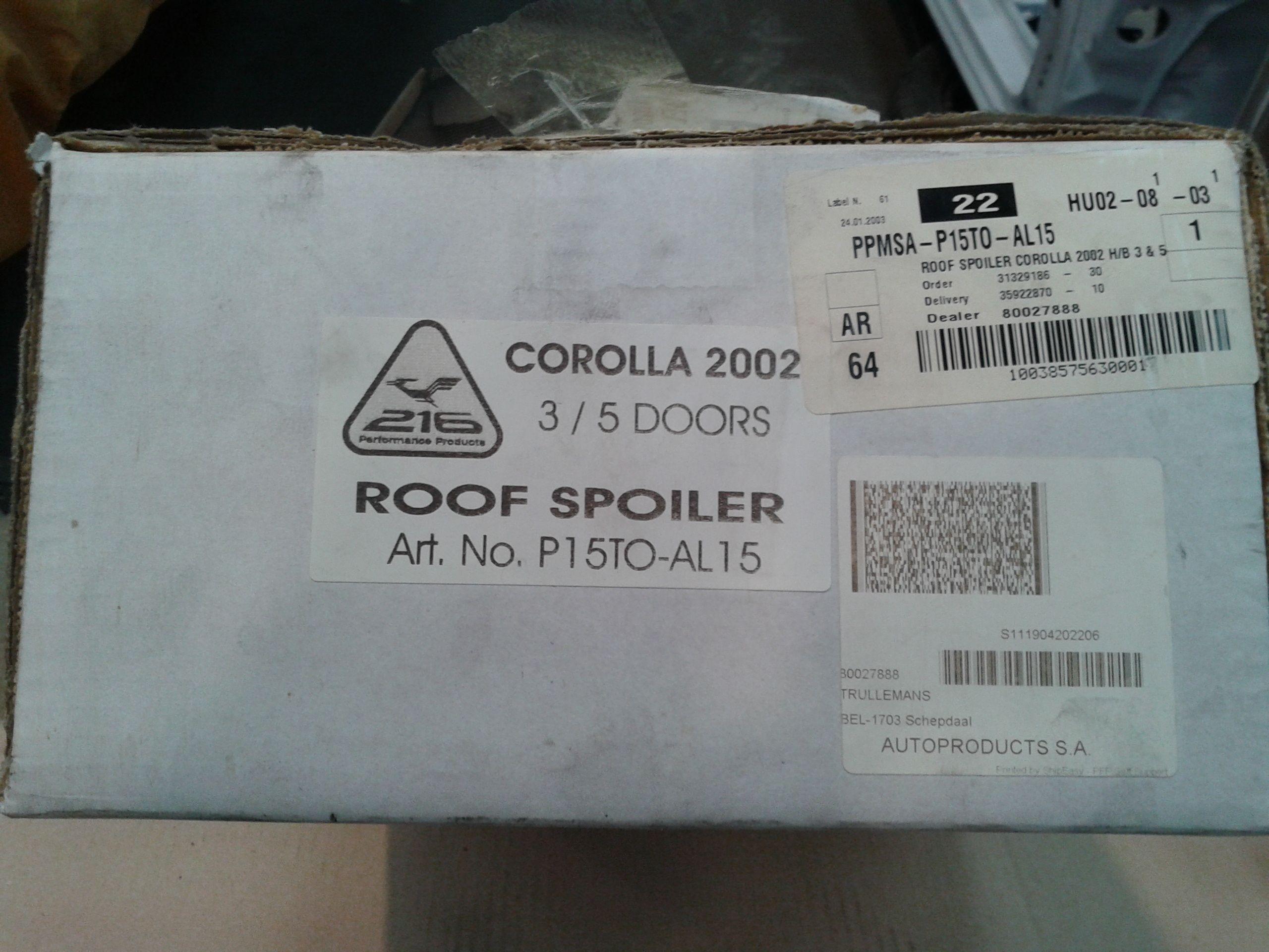 Spoiler 216 corolla E12 20121215130619