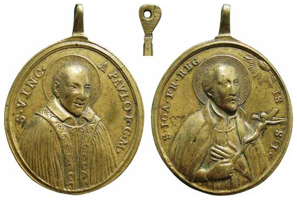 S. Vicente de Paul/ S. Juan Francisco Regis - MR(307) (R.M. SXVIII-O176) Vicentedepauljuanfranci