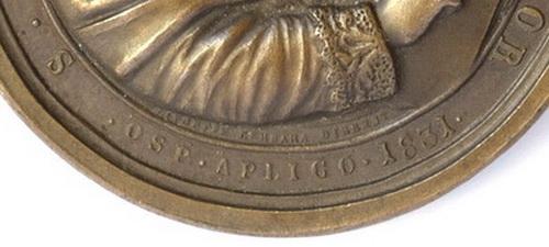 San gregorio Magno / San Romualdo Abad . S. XIX  (R.M. SXIX-O30) Sangregoriofirma