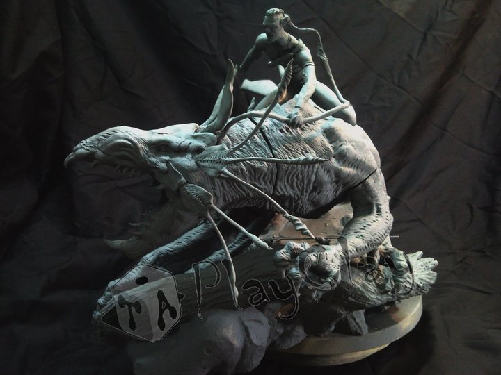 Diorama Jake Sully on Thanator by Taoplayclay 16296346480970207555836