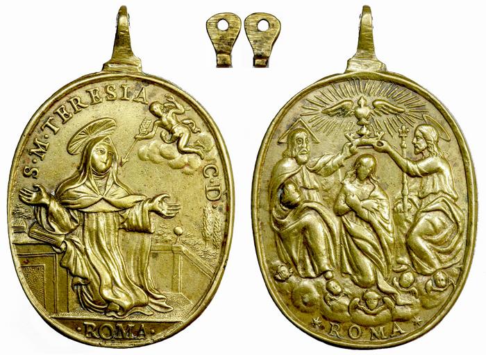 Extasis de Santa Teresa / Coronación de la Virgen S. XVII (RM. S. XVII-O12) F028dteresadejesuscoron