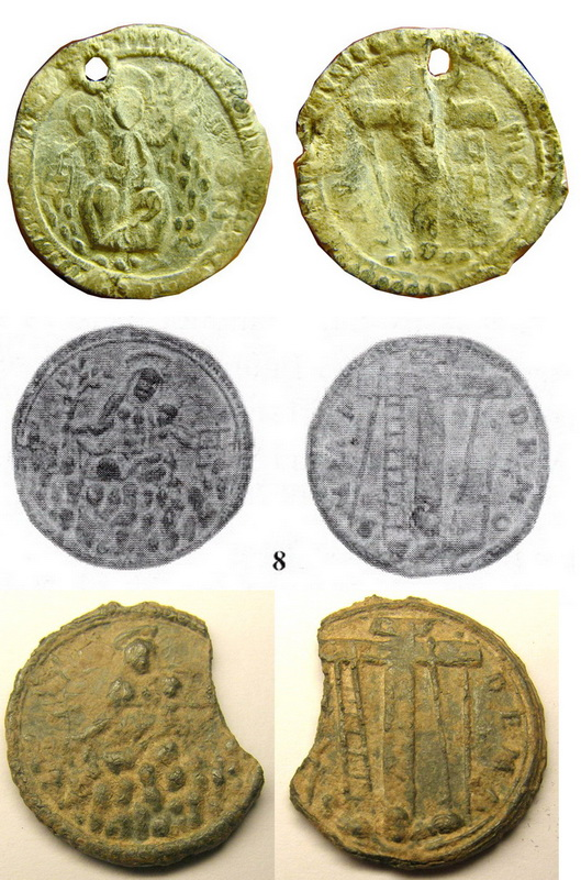 Medalla Nª Sª de  Montserrat  / Cruz de Calvario - (RM SXVI-C1 T3) Balaguer2