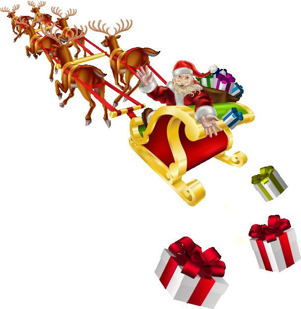 Papá Noel y Trineo Hohp