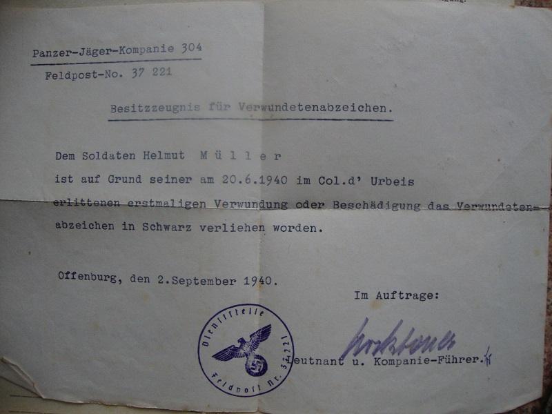 Traduction et identification d 'un Wehrpass et ses papiers Y3jh