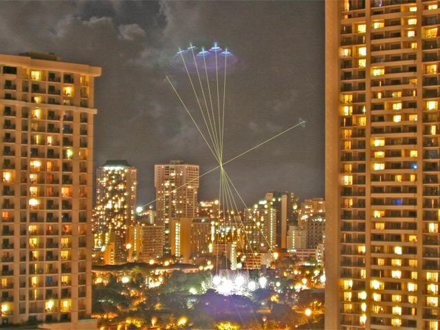 Un OVNI photographié en plein centre de Shanghai Honolulu2fx7