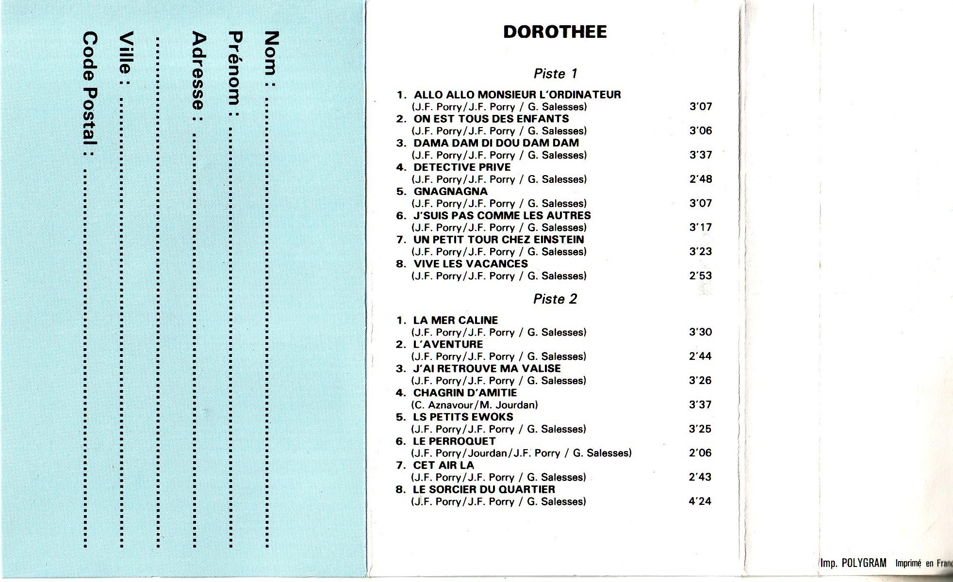 Dorothée et AB Productions (Récré A2 - Club Dorothée) Dorothiquettes2