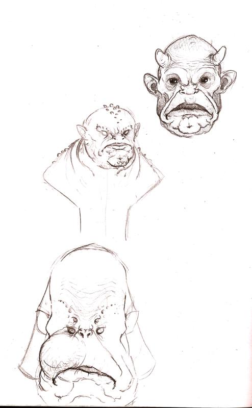 Croquis de monstres Ufpu