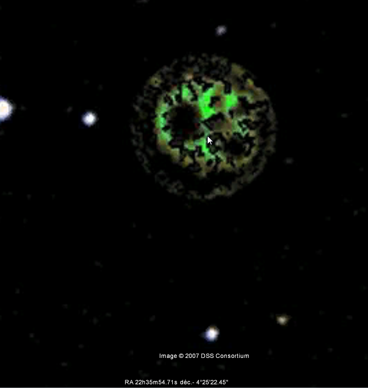 Enorme astéroïde découvert sur Google Sky Glitch3
