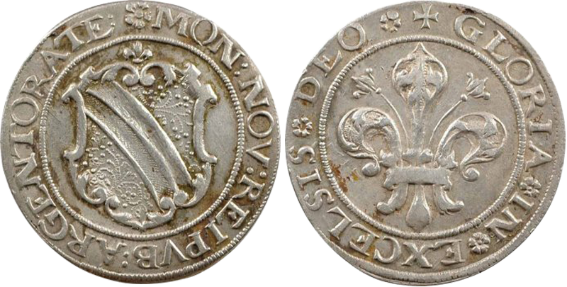 30. Dickpfennig ou Sechsbätzner (1/4 Taler, 24 Kreuzer), avant 1621 Dickpfennig24k1