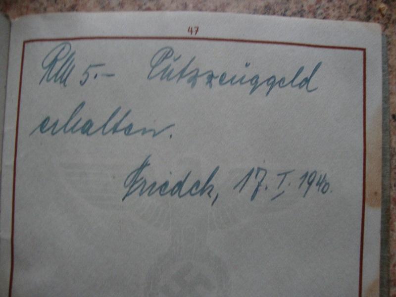 Traduction et identification d 'un Wehrpass et ses papiers U39t