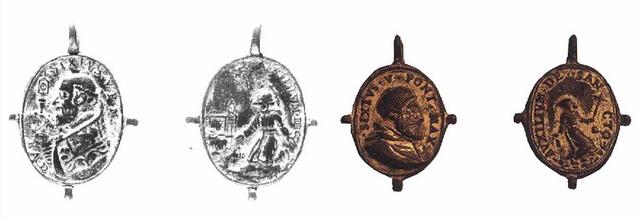 Medalla S. Francisco de Asís / Inmaculada (R.M. SXVII-O266) Ez3j
