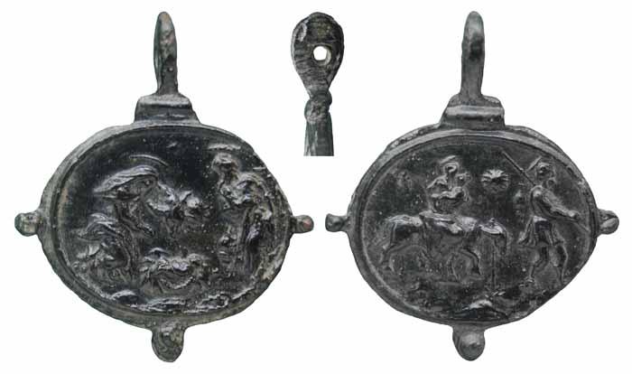 ICONOGRAFIA de la NATIVIDAD en las medallas devocionales Mr154insvlano