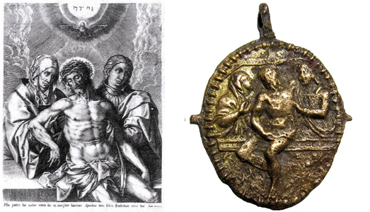 Pio V / Cristo muerto entre la Virgen y San Juan (R.M. SXVI-O15) Antesdelentierro0011